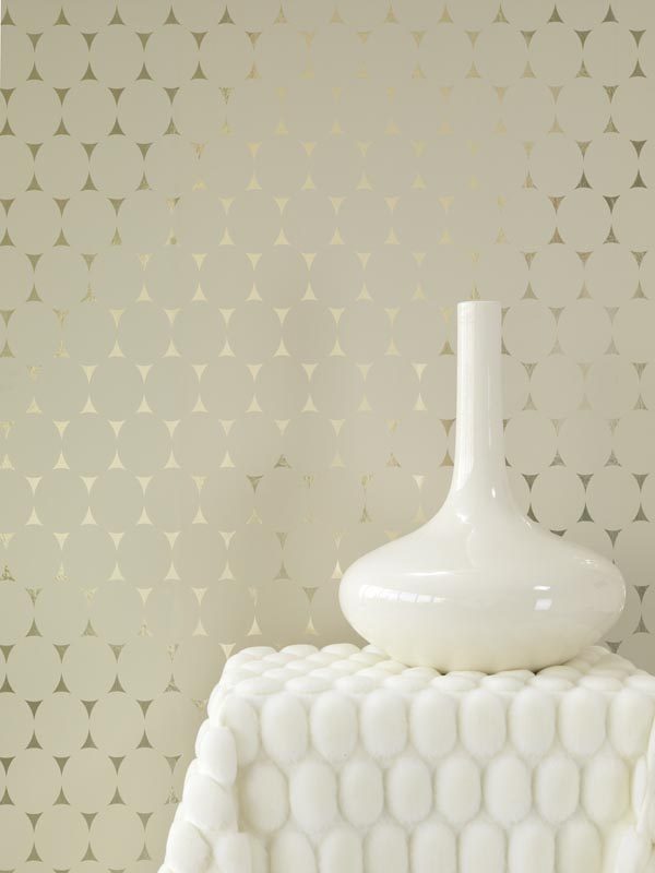 Soft Warm Metallic Wallpaper by Eijffinger available from Brewster Home Fashions
