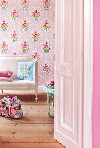 Pale Pastel Pink Vintage Rose Cameo