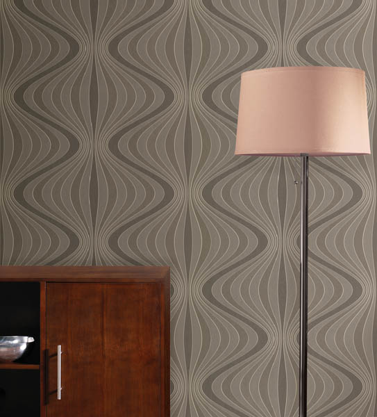 A modern wallpaper with a jazzy swirl of lines