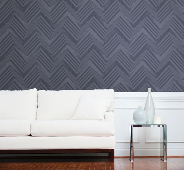 A chic textured effect for walls with a curvy allure