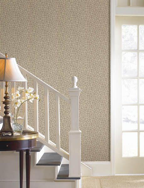 A contemporary wallpaper with a geometric print
