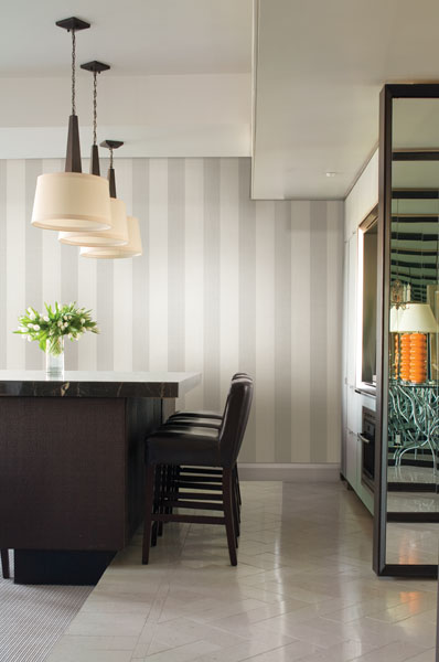 A chic stripe wallpaper from Kenneth James Naturale
