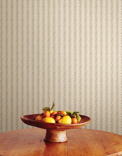Pretty floral stripe wallpaper Brewster Home Fashions