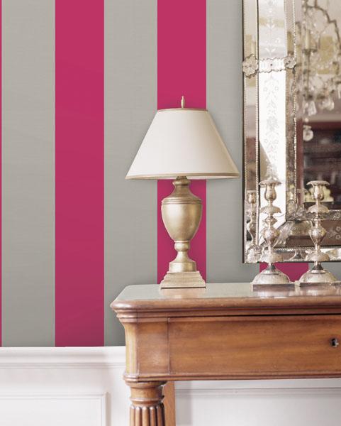 Pink Stripe Wallpaper Modern Decor Stripe Wall