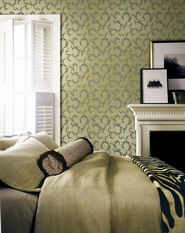 283-62934 Scroll Wallpaper beautiful Guest Room Decor Idea