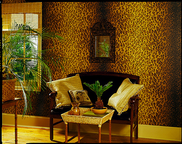Leopard Print Wallpaper from National Geographic Global Chic Decor Idea