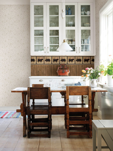 Farm Silhouettes Kitchen Wallpaper Border Country Chic Decor