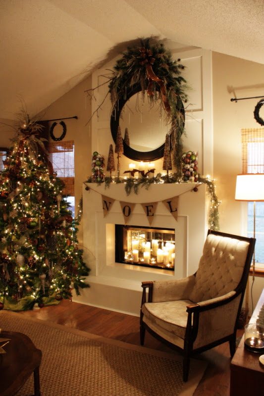 Holiday Festive Mantel Decor Ideas