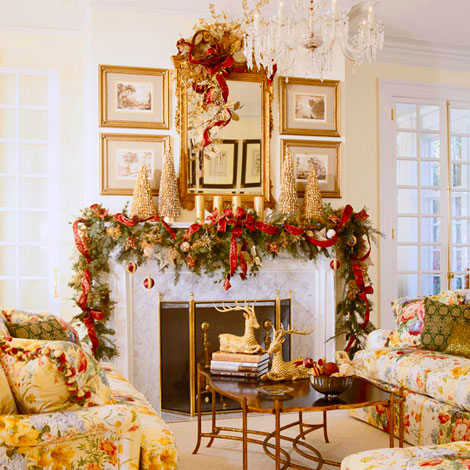 Christmas Mantel Idea Festive Decor