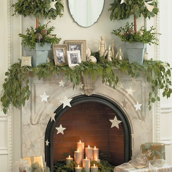 Festive Mantel Photo Merry Mantel Decor IDea