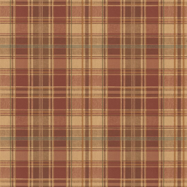 Plaid Wallpaper log cabin lodge inspired decor