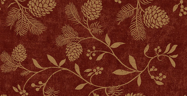 Pine Cone Red wallpaper log cabin lodge inspired decor