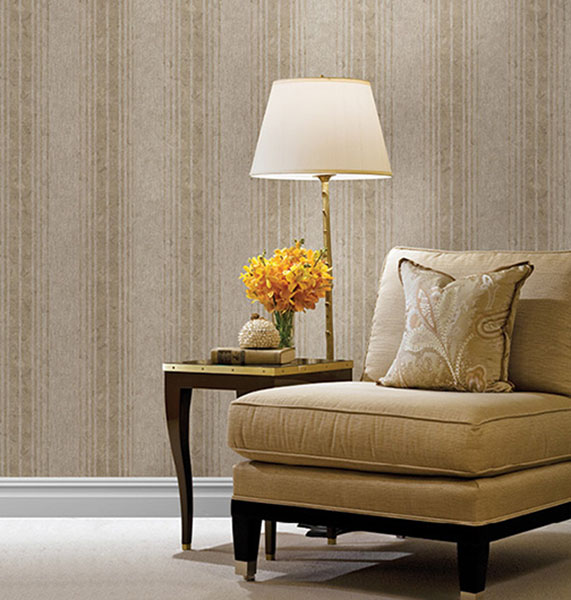 672-20039 Designer Stripe wallpaper by Kenneth James from the Onyx Wallpaper Collection
