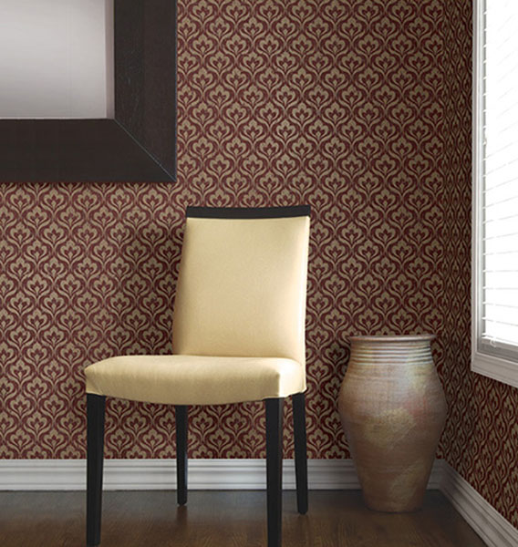 672-20057 Mini Global Chic Design Wallpaper from Kenneth James Onyx Wallpaper Collection