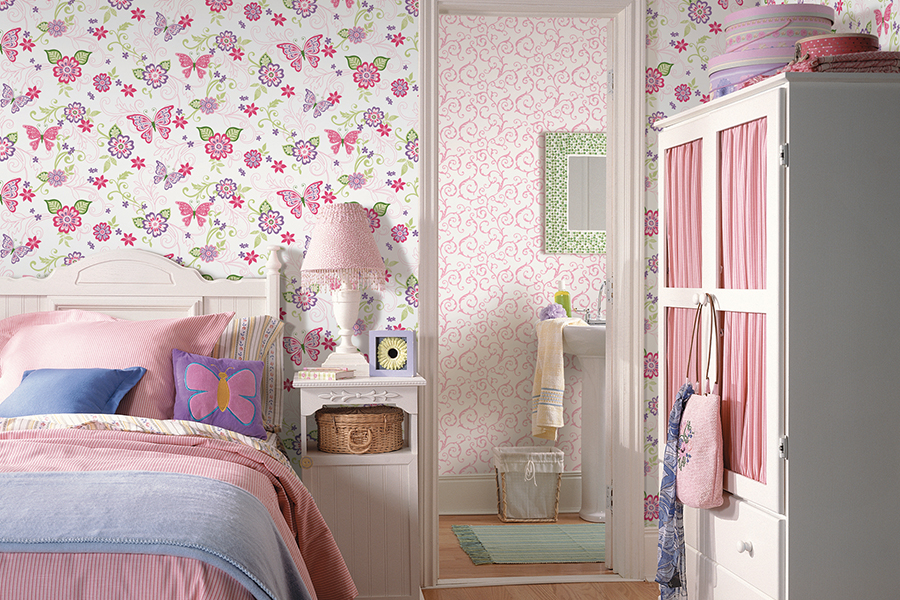 BBC95511 Kids Wallpaper Girls Room from Chesapeake Wallcovering