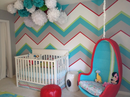 Chevron Stripe Nursery Decor