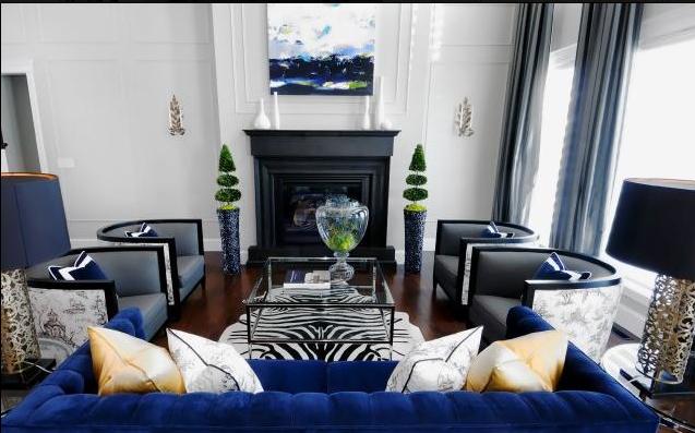 cobalt blue couch