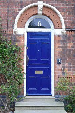 cobalt blue door via Houzz