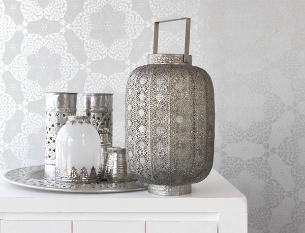 splash of silver metallic in decor