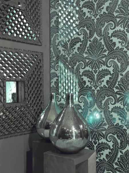 Metallic Turquoise Decor Idea