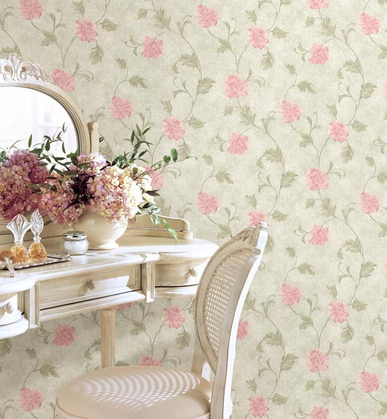 Louis Green Vintage Floral Wallpaper Satin Classics IX