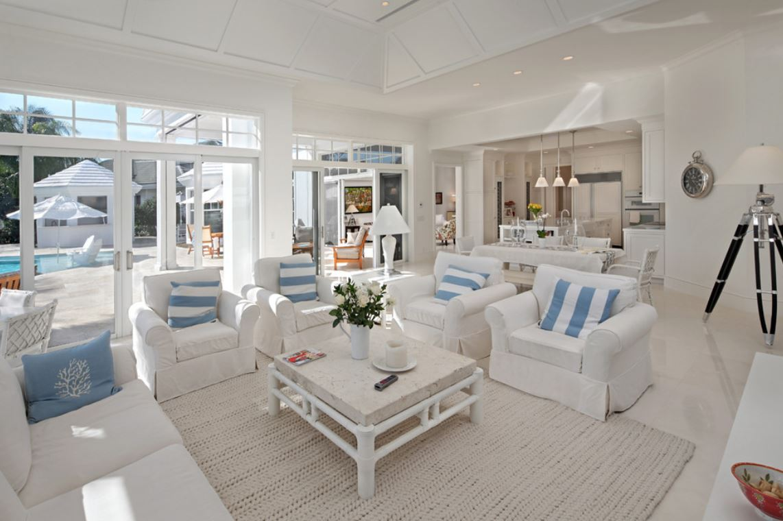 Beach Inspired Living Room Chic3