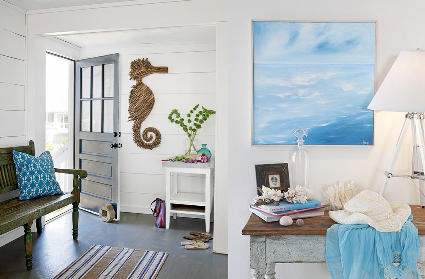 Coastal chic beach homes brewster home for Coastal wall decor ideas