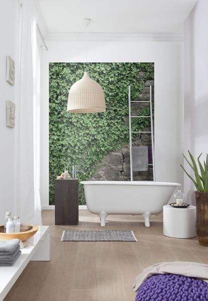 ivy wall mural bathroom mural trompe loeil decor