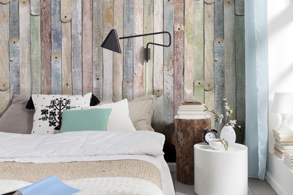 Shabby Chic vintage wood wall mural trompe l'oeil mural rustic wood