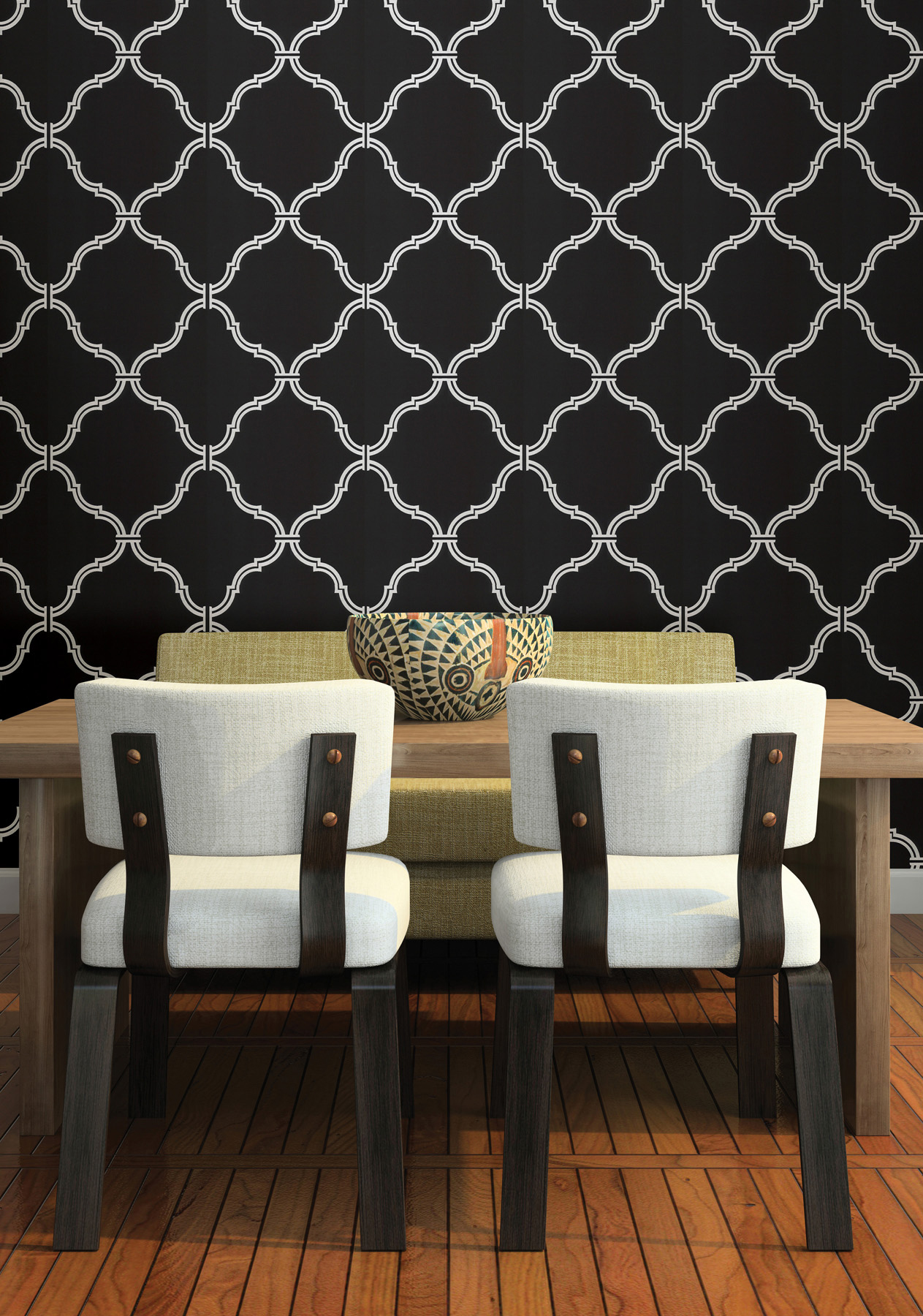 Make it modern with wallpaper brewster home - Trend wallpaper dining ...