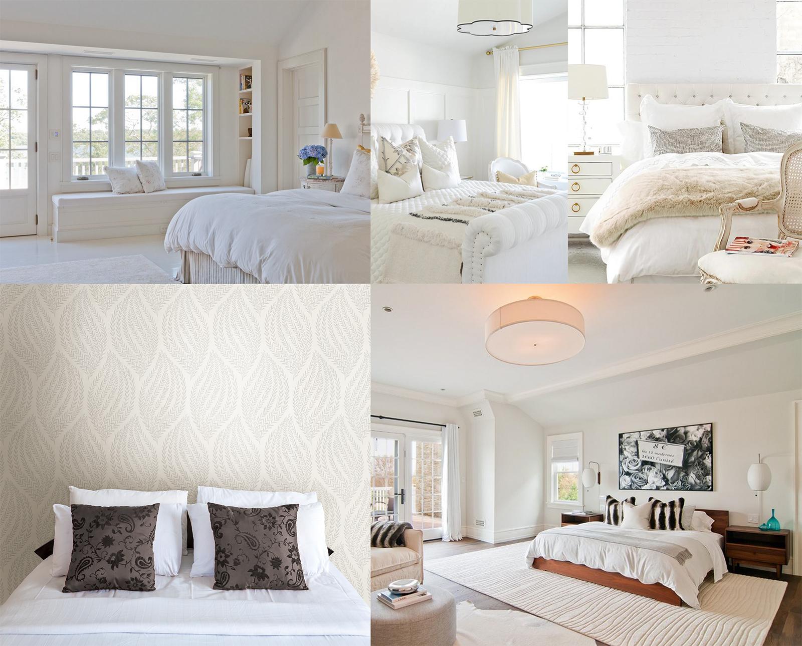 white bedroom looks