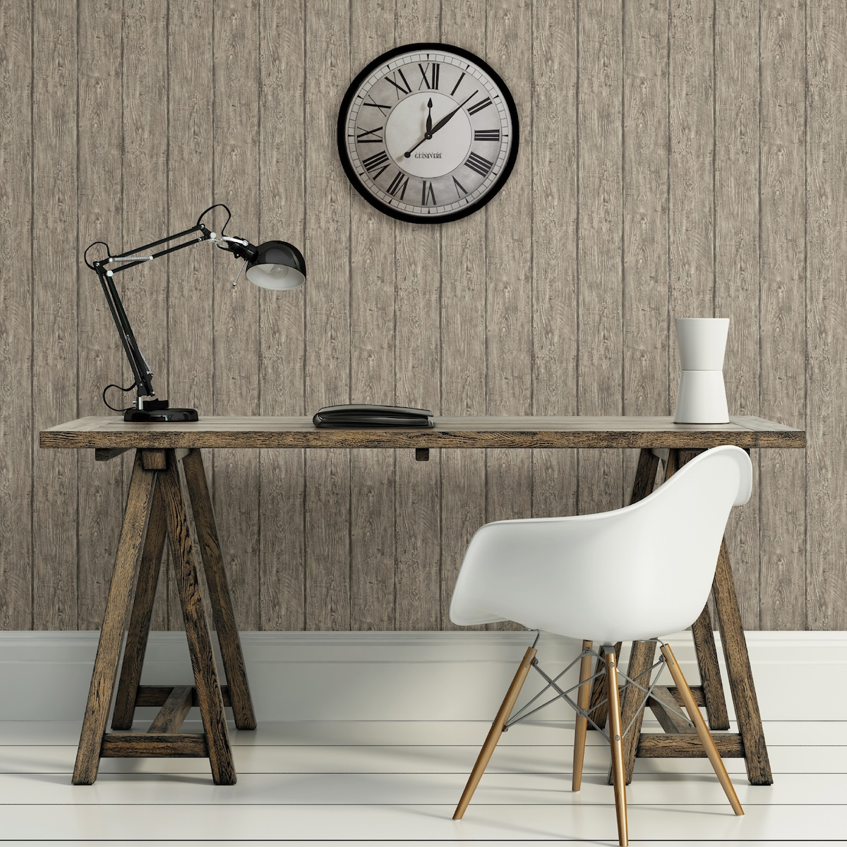 grey faux wood wallpaper