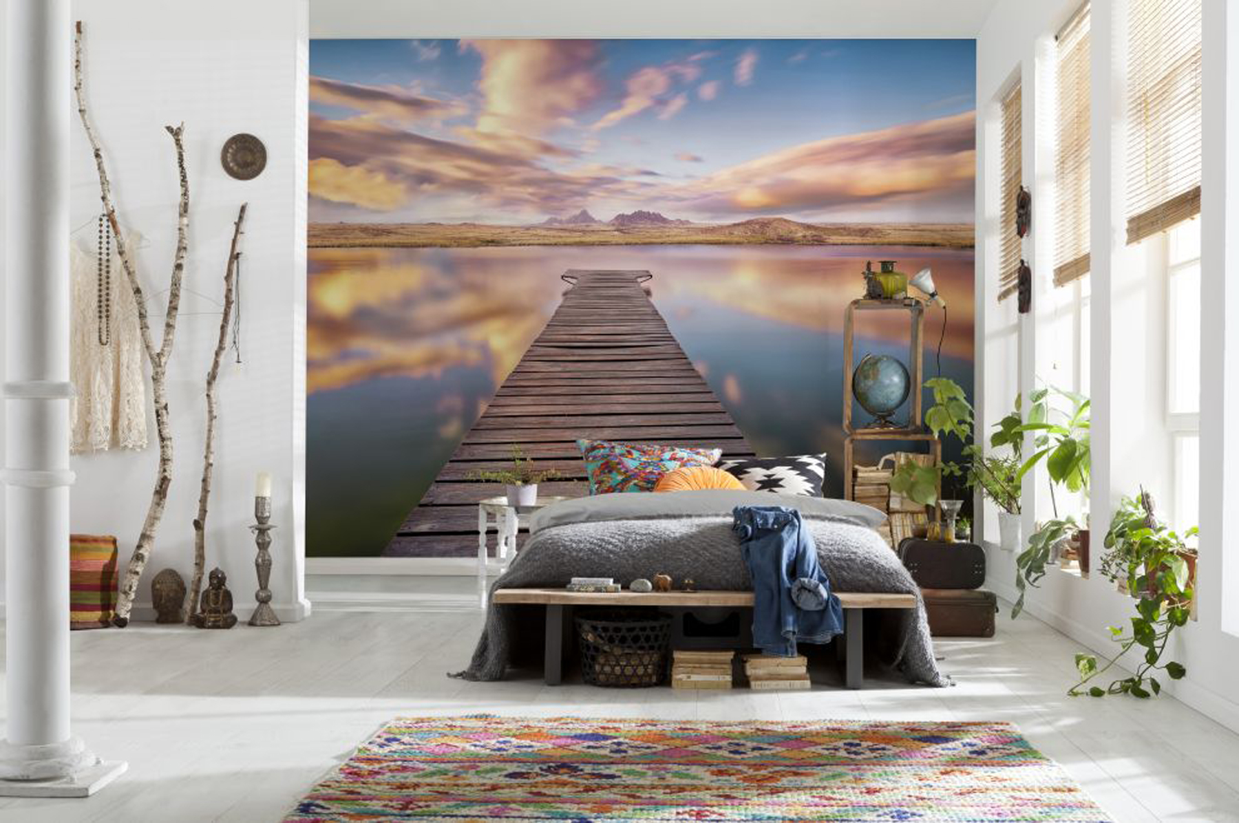 15 murals to make your studio apartment a masterpiece for Create a wall mural