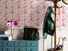 Charlise Pink Floral Stripe