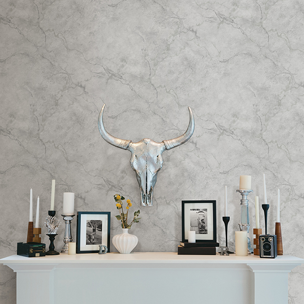 A white marble wallpaper from the Eclispe collection.