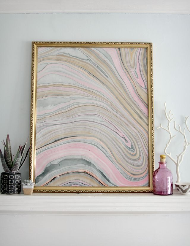 marbled artwork