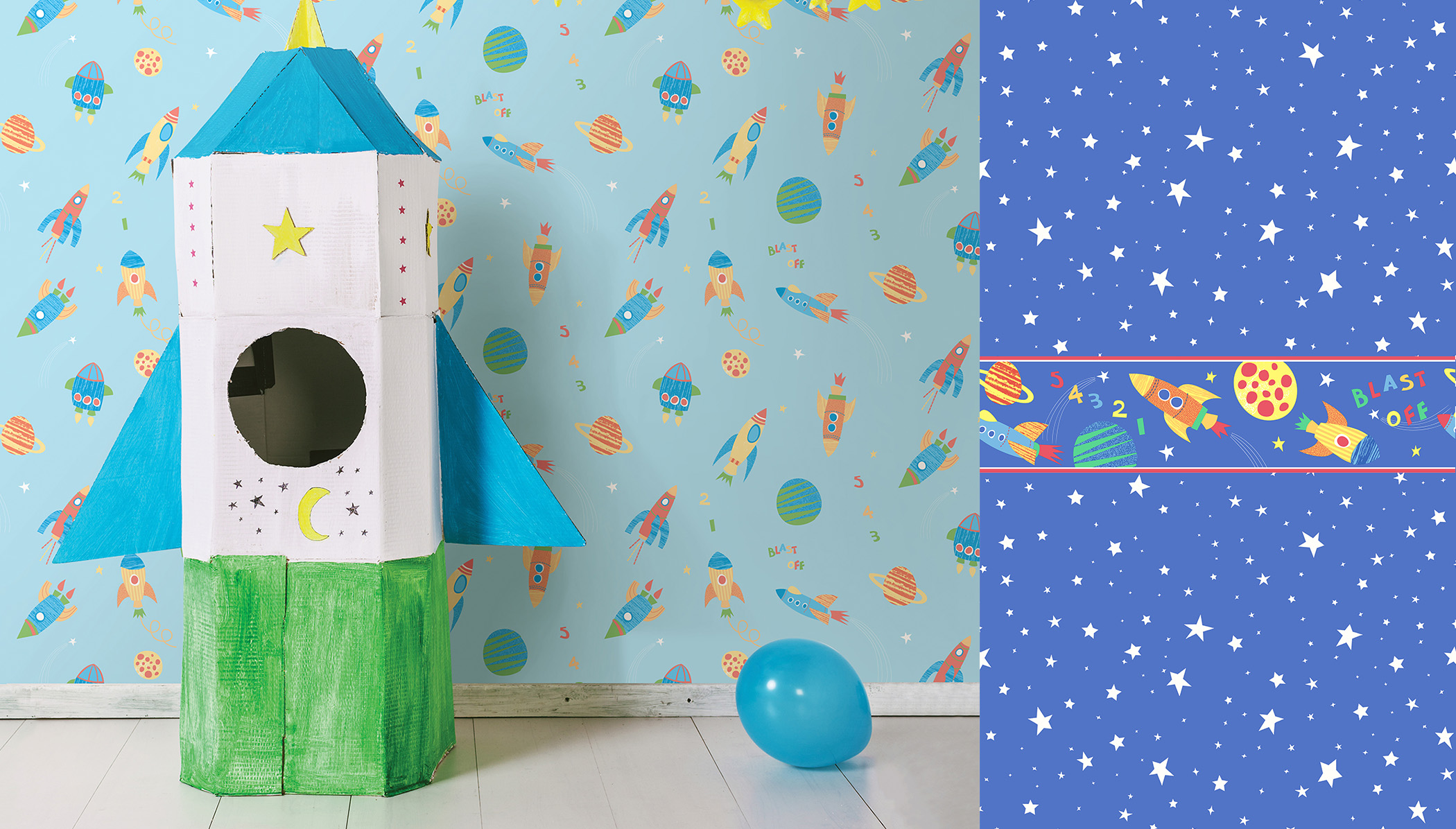 children's outer space wallpaper