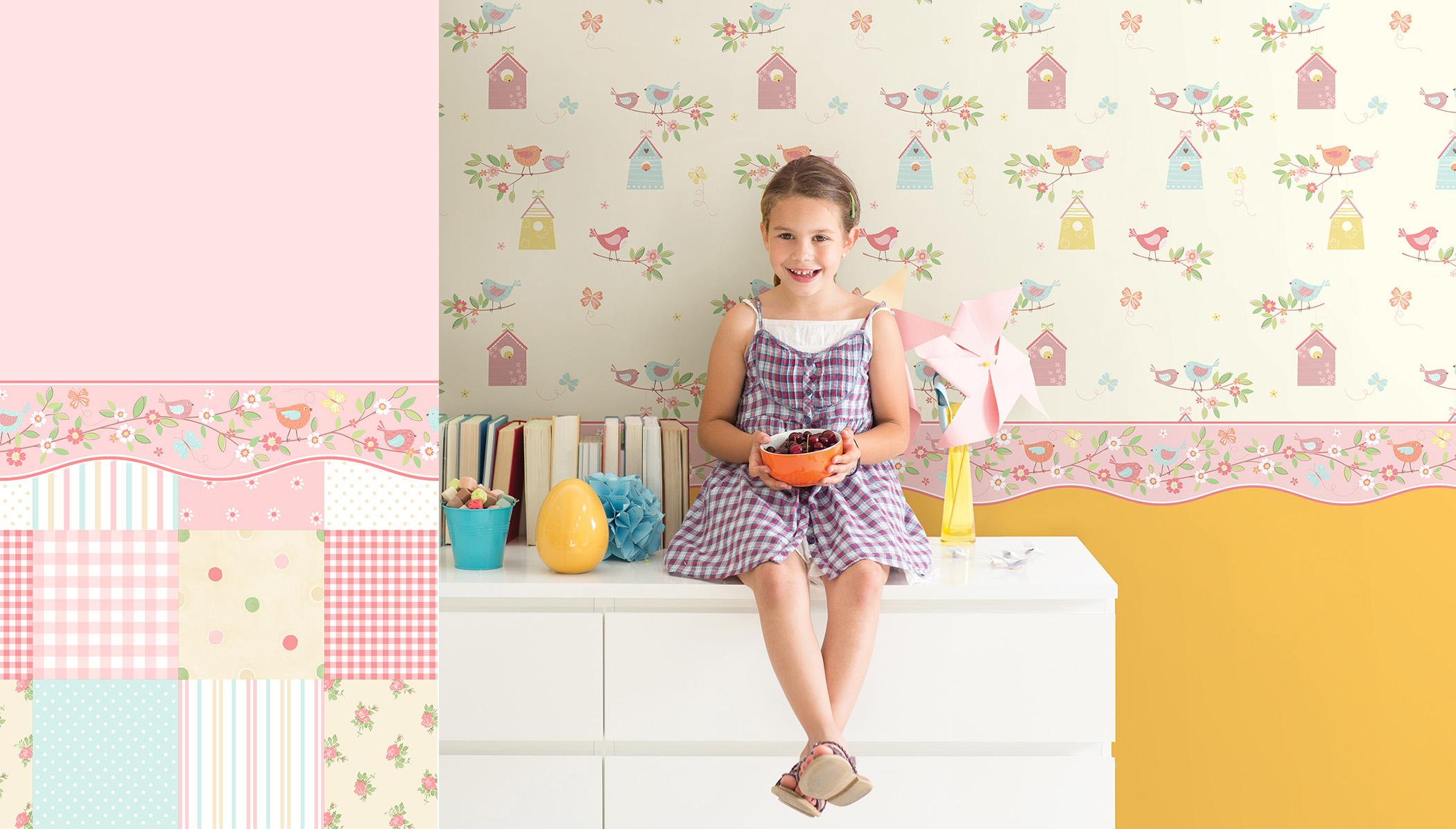children's pink wallpaper