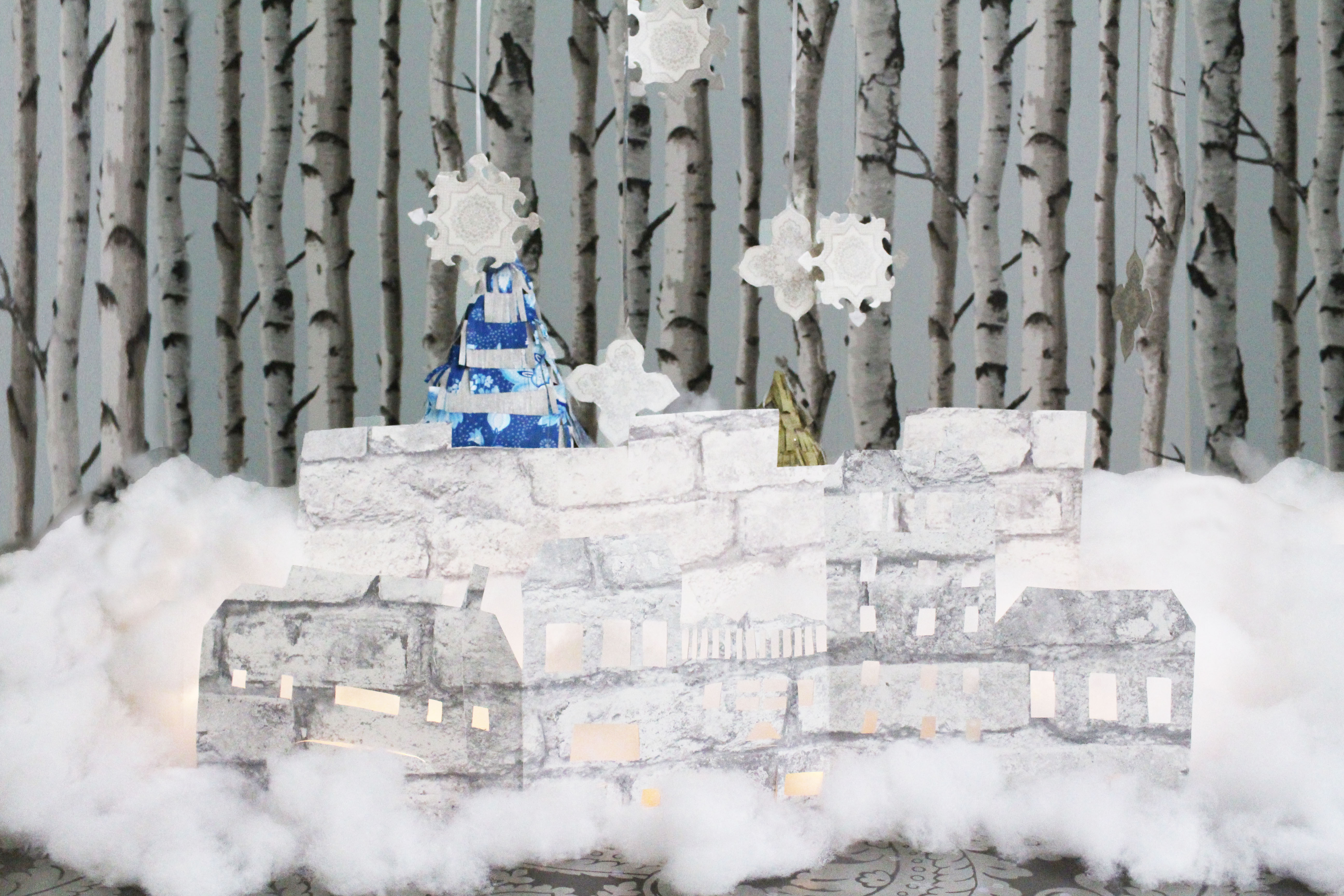 DIY Snowy Holiday Decor