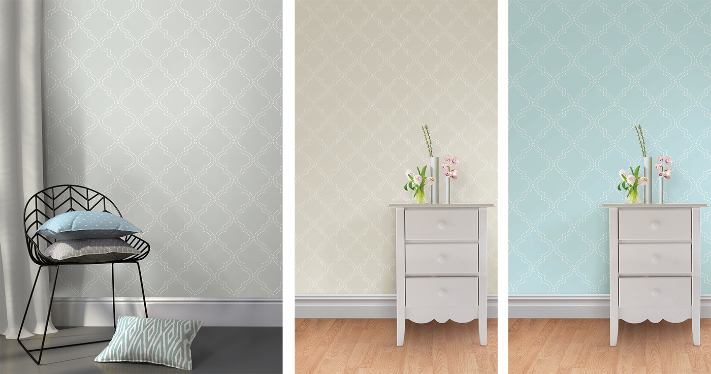 quatrefoil peel and stick wallpaper