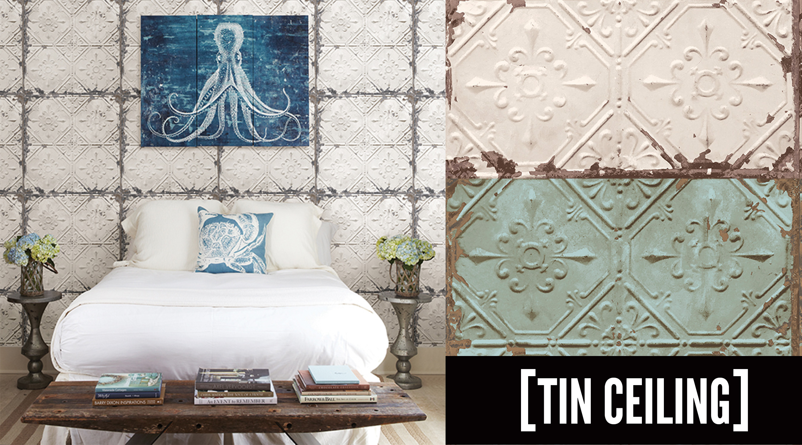 tin tile wallpaper