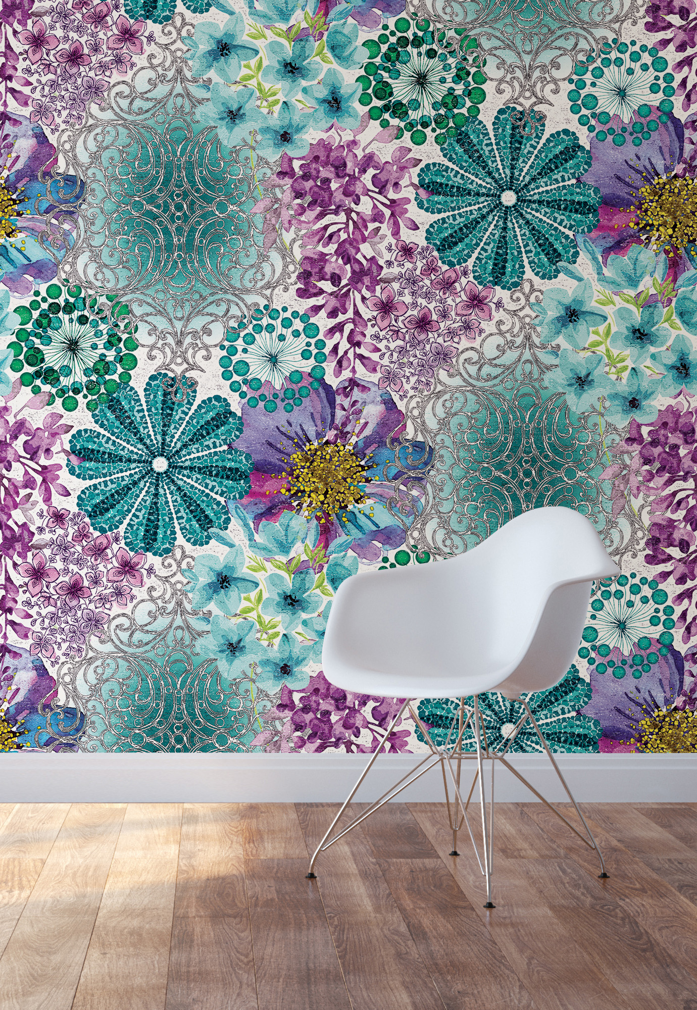 marisol floral mural