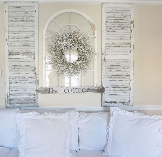 salvaged shutters wall panels