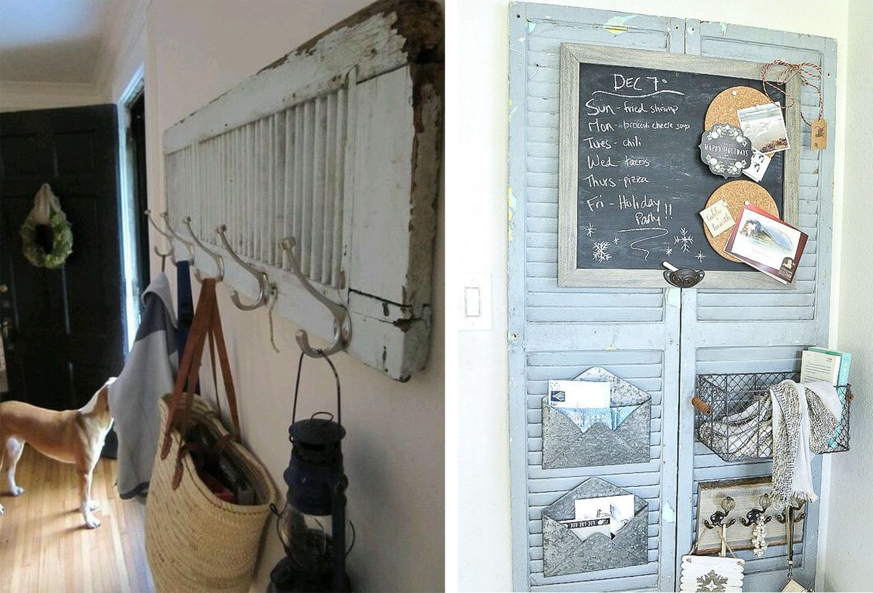 salvaged shutter organizers