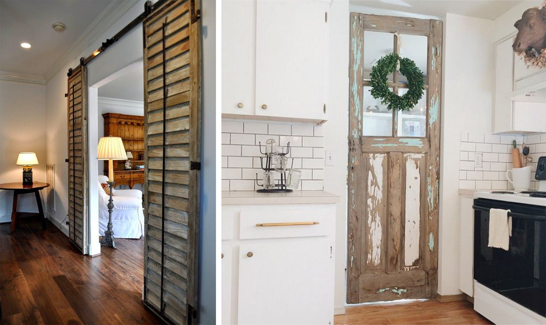 repurposed shutter doors