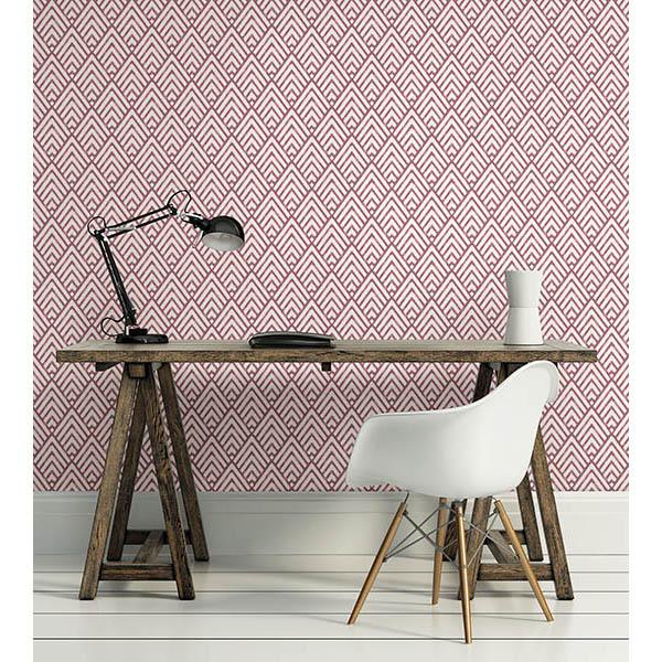 Vertex Burgundy Wallpaper