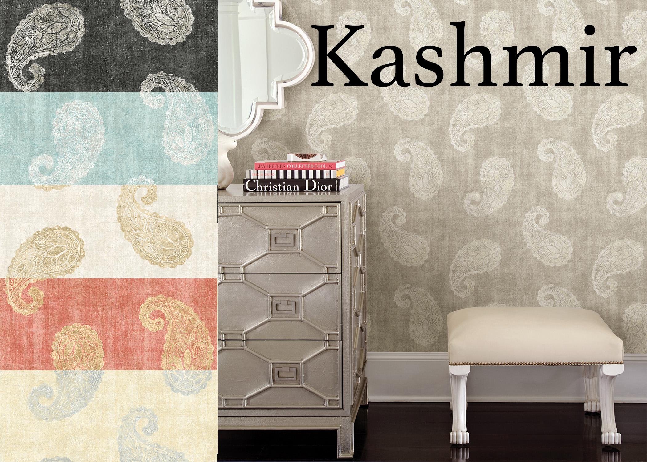 Kashmir Paisley Wallpaper