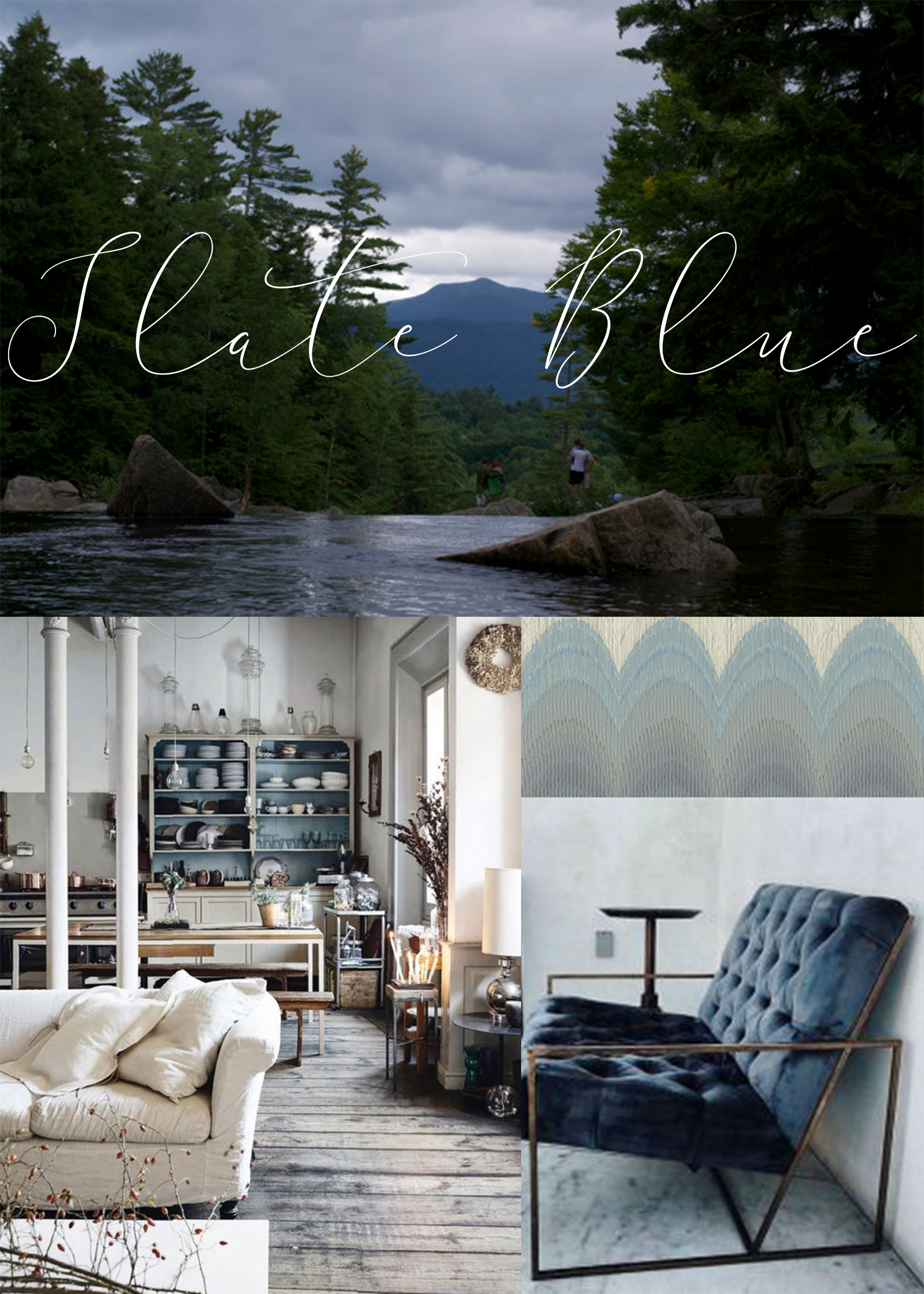Slate Blue Home Decor