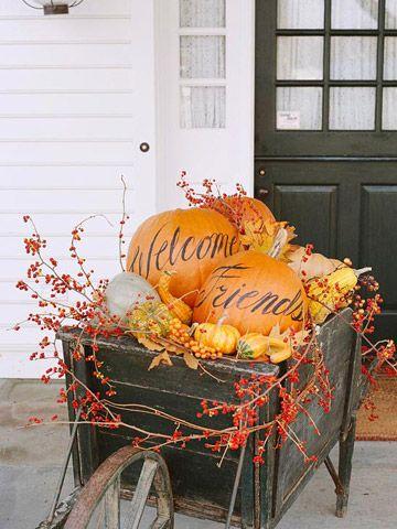 pumpkin cart via Better Homes and Gardens