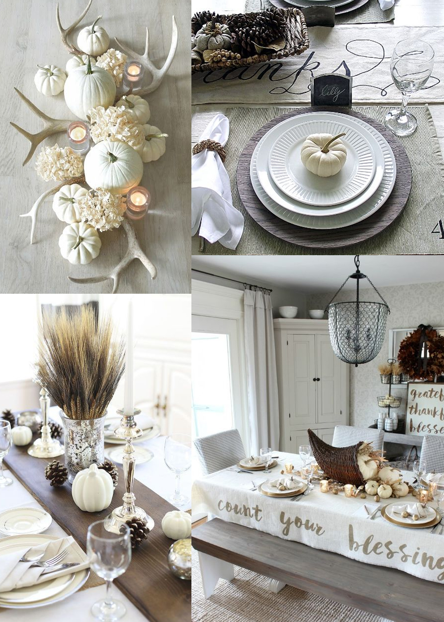 Farmhouse / shabby-chic Thanksgiving design ideas